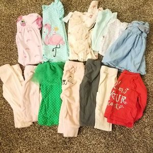 Baby girls clothing lot - 6 months